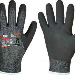 Lateks-pinnoitettu neulesormikas, hyvä suojaus kylmältä (max. -30°C), viiltosuoja luokka C.