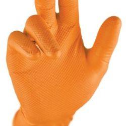 Grip oranssi nitriili kertakäyttökäsine