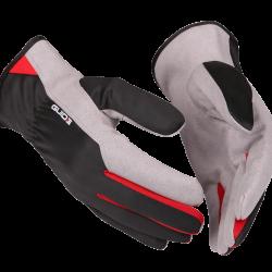 Erinomainen käsine mm. rakentajille ja asentajille. Ohut työkäsine, joka on kevyt ja joustava kädessä. Kämmenpuoli valmistettu synteettisestä nahasta (amara) ja selkämys polyesteristä.
